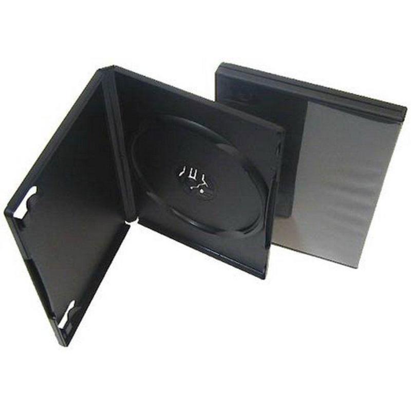 Бокс для CD/DVD дисков VS DVD-box черный (5 штук в упаковке)