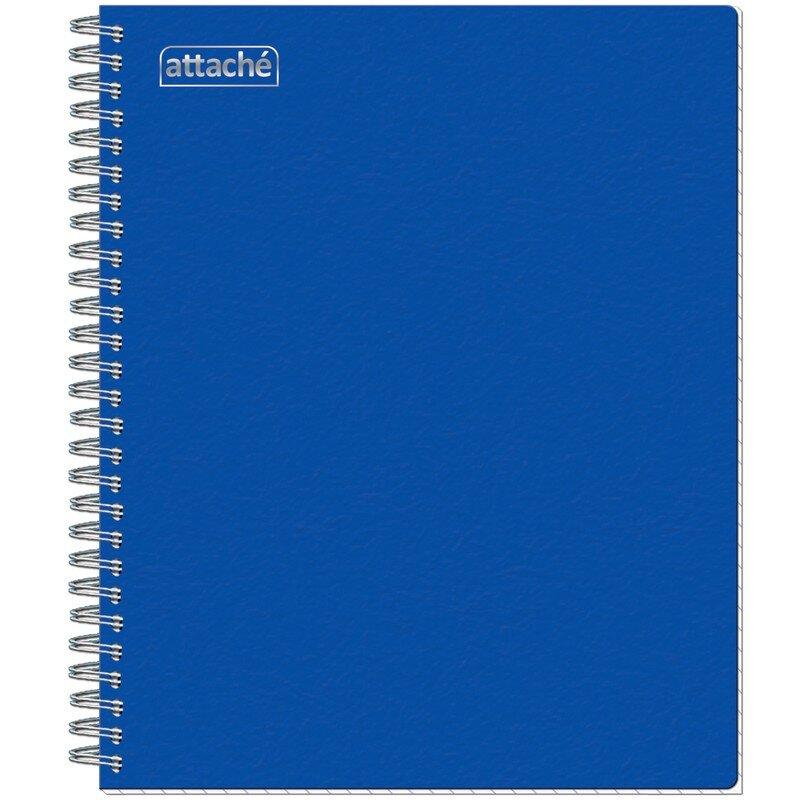 Тетрадь общая Attache А5 80 листов в клетку на спирали синяя