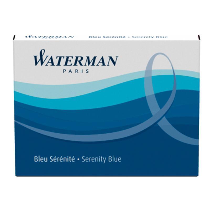 Картридж для перьевой ручки Waterman Cartridge Size Standard сменный синий (8 шт)
