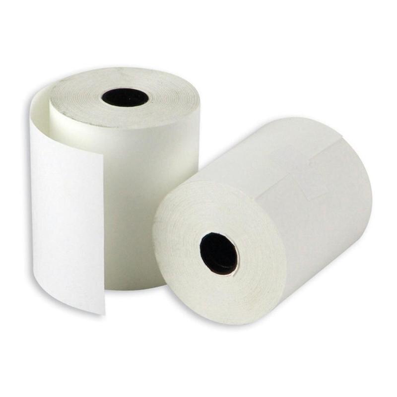 Чековая лента из термобумаги 57 мм х 30 м х 12 мм 6 штук