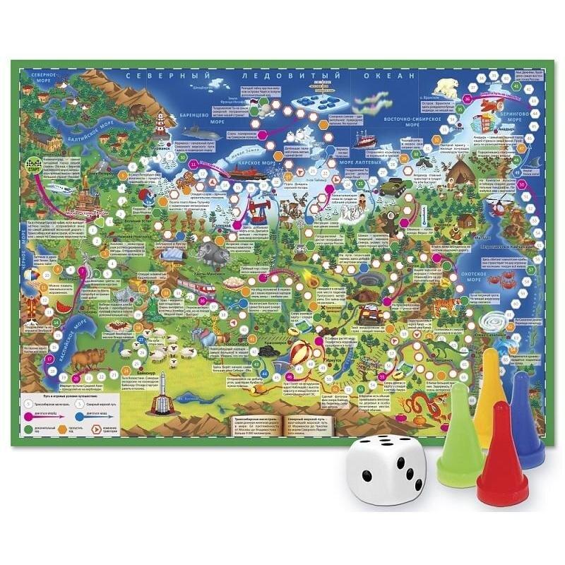 Настольная игра Путешествие по России 59,5 см x 42 см