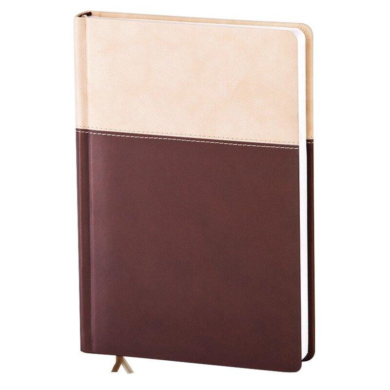 Ежедневник недатированный Patchwork 160 листов коричневый