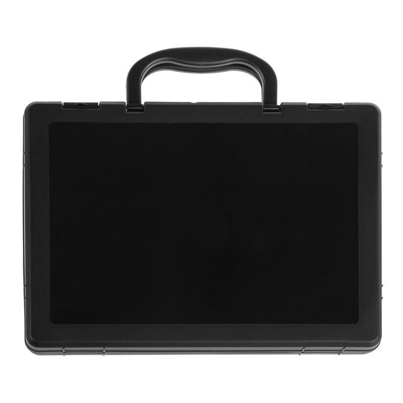 Папка-портфель Стамм пластиковая А4 черная, 843581K