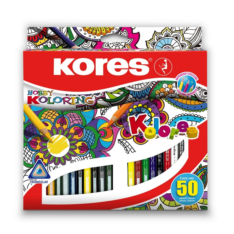 Карандаши цветные Kores Hobby Koloring 50 цветов