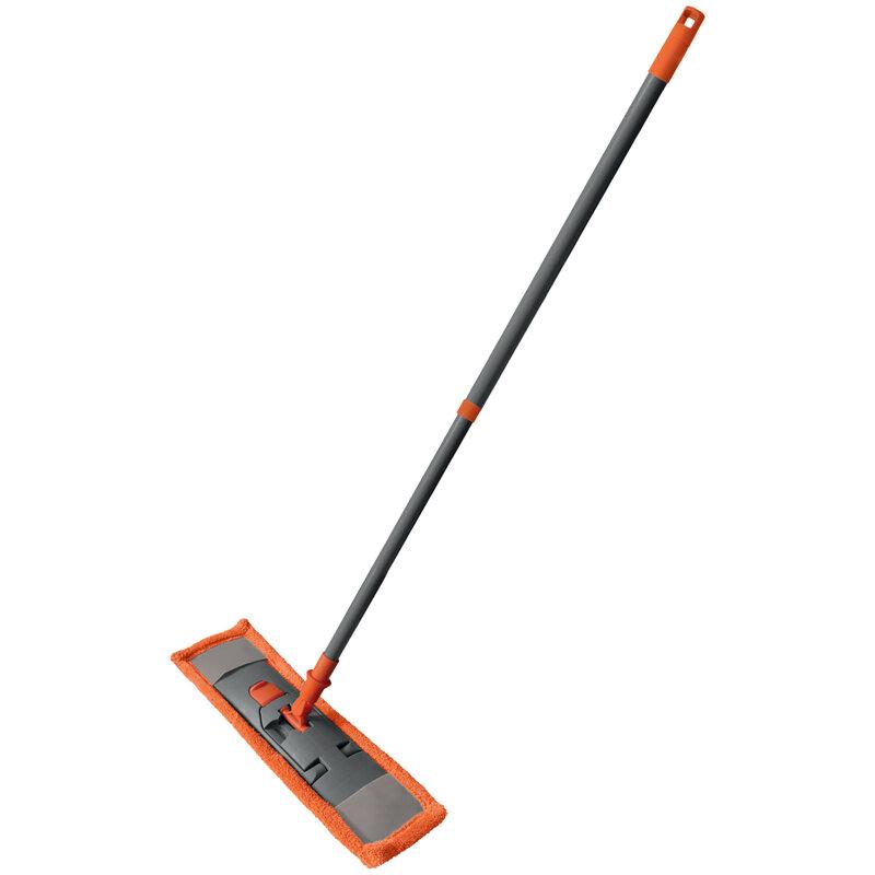 Швабра York Classic с держателем 40*13см, телескопическая ручка 75-135 см, плоский МОП из микрофибры