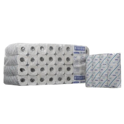 Бумага туалетная в рулонах Kimberly Clark Scott Perfom 2-слойная 96 рулонов по 25 метров, 554693