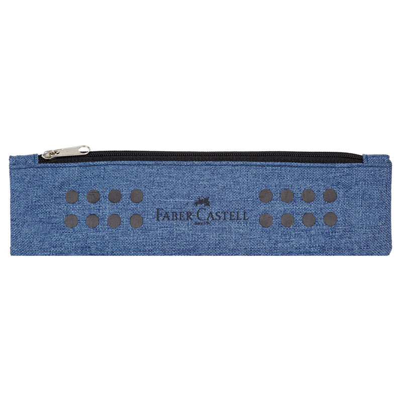 Пенал-косметичка 210*58 Faber-Castell Grip, синий, 290078rf