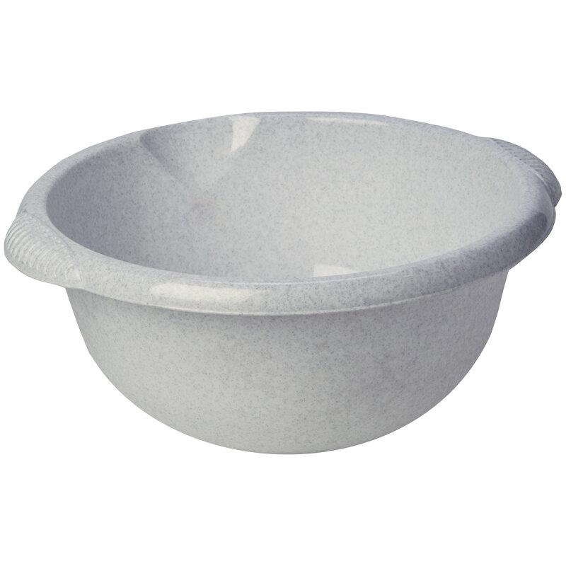 Таз пласт. Idea, круглый, цвет мраморный, 10 литров, 301317rf