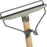 Швабра деревянная с металлическим зажимом 20 см рукоятка 125 см