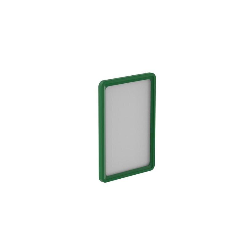 Рамка для ценникодержателей пластиковая А5 зеленая 10 штук