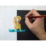 Ручка гелевая Pentel Hibrid Dual Metallic фиолетовый/синий, 778518K