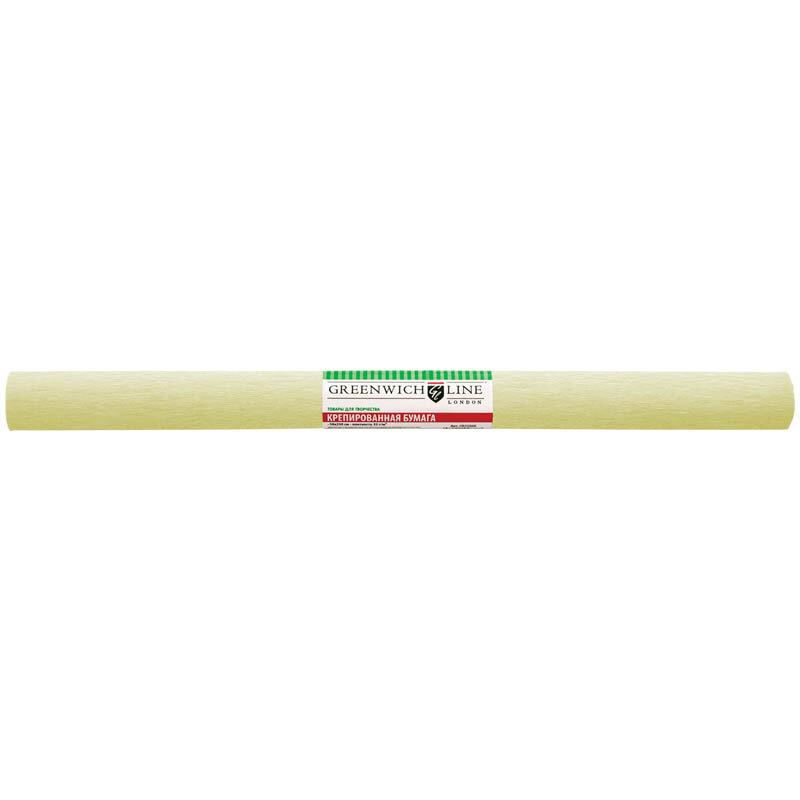 Бумага крепированная Greenwich Line, 50*250см, 32г/м2, шампань, в рулоне, 214441rf
