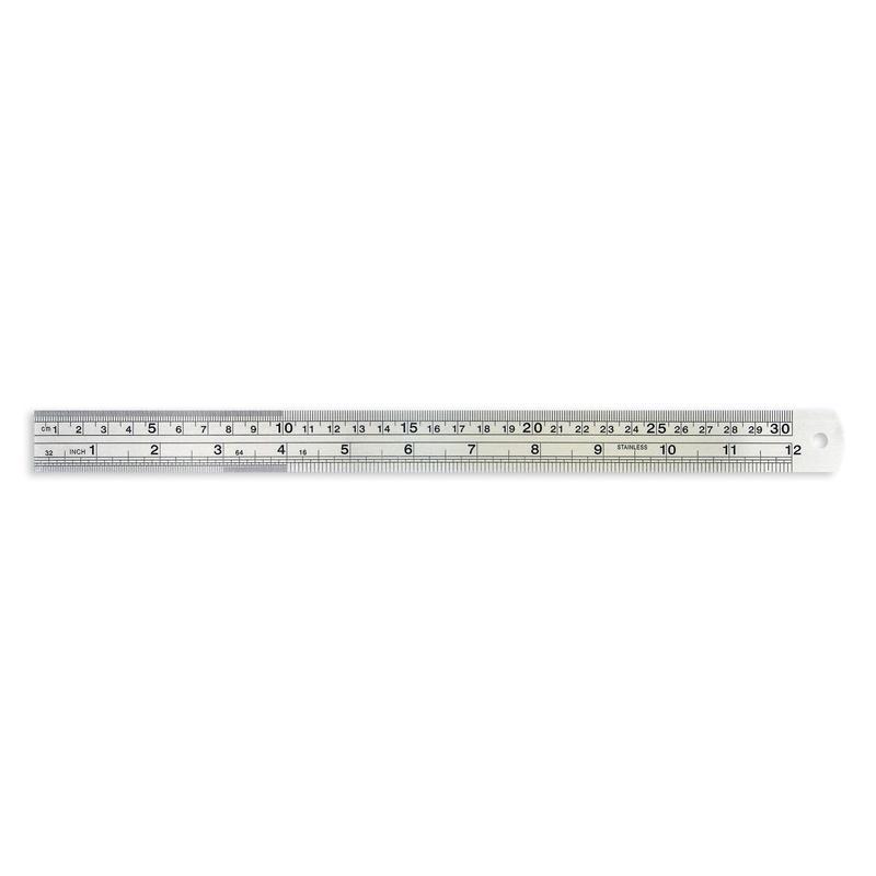 Линейка Attache 30 см металлическая, 35821K