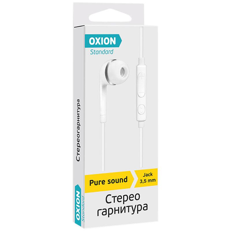 Наушники-вкладыши с микрофоном Oxion Standard HS230WH, 1 м, белый, 270524rf