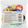 Бирки для ключей пластиковые разноцветные 5 цветов 10 штук, 147841K