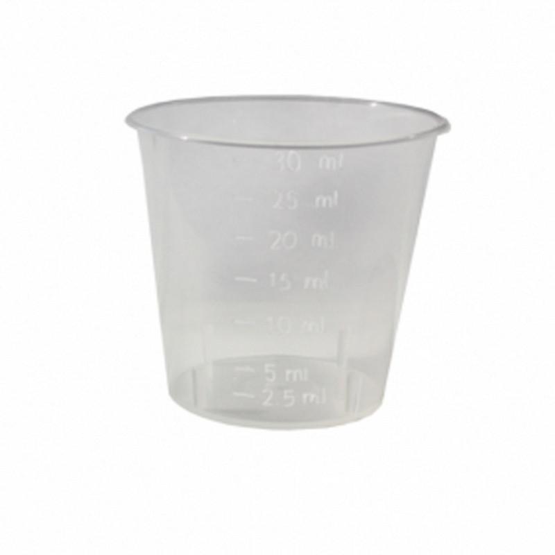 Мерная емкость пластиковая прозрачная 30 мл, 611076K